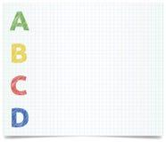 ABCD - ύφος μανδρών Στοκ Εικόνα