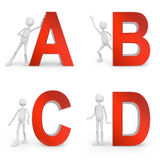 ABCD Photo stock