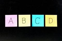 ABCD Royaltyfri Foto