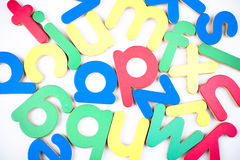 Abcd. The letter a b c d in blue green yellow and red Royalty Free Stock Photo