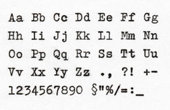 ABCD-bokstäver Royaltyfri Fotografi