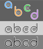 ABCD diagram. A,B,C and D letters forming a diagram on black background Royalty Free Illustration