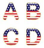 ABCD patriótico Fotografía de archivo