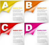 ABCD - vector progress background Royalty Free Stock Image