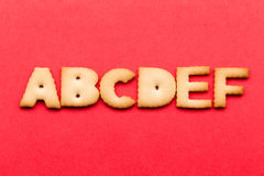 ABCDE biscuit Stock Photos