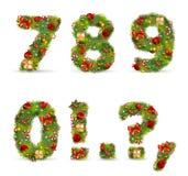 ABCDEF, Weihnachtsbaumschrifttyp Lizenzfreie Stockfotografie