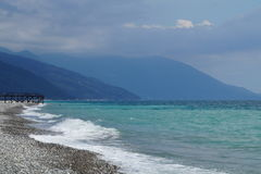 Abchazië De Zwarte Zee Stock Foto's