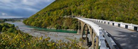 Abchazië Sukhumi De rivier van Gumist Stock Foto's