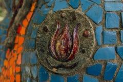 Abchazien gamla Gagra, Maj 02, 2017: Detaljer för mosaik för Tsereteli ` s parkerar in av Oldenburg Royaltyfri Fotografi
