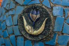 Abchazien gamla Gagra, Maj 02, 2017: Detaljer för mosaik för Tsereteli ` s parkerar in av Oldenburg Royaltyfri Foto