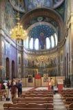 Abchazien Nya Athos Simon trosivrarekloster Inre av vikarier Royaltyfria Bilder