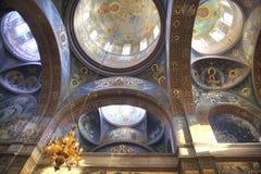 Abchazien Nya Athos Simon trosivrarekloster Tak av templ Arkivbilder