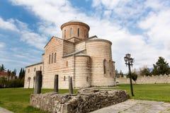 Abchazien Pitsunda, patriark- domkyrka i hedern av aposteln Andrew Royaltyfria Foton