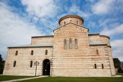 Abchazien Pitsunda, patriark- domkyrka i hedern av aposteln Andrew Arkivbild
