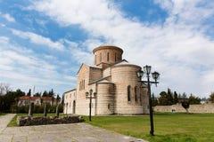Abchazien Pitsunda, patriark- domkyrka i hedern av aposteln Andrew Arkivfoton