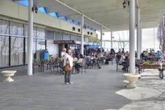 Abchazien Semesterorten Pitsunda För kafé hav ashore Royaltyfri Bild