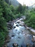 Abchazien vertical för flod för panorama för berg för 3 hdrbilder Royaltyfri Fotografi