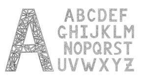 ABCs Alfabeto inglese Fonte di progettazione moderna Fotografie Stock Libere da Diritti