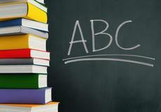 ABCs & textbooks. Fun school background Stock Illustration