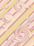 Abctract background. With brown, yellow and pink curves stock illustration