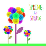 Abctract buttons flower. Spring has sprung. Vector stock illustration