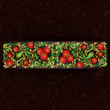 Abctract floral ornament on grunge background Royalty Free Stock Photos