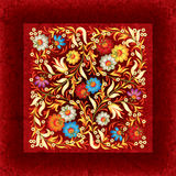 Abctract floral ornament on grunge background. Abctract floral ornament on red grunge background Royalty Free Stock Images
