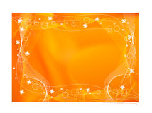 Abctract orange background. Orange abstract background with circle curves and waves royalty free illustration
