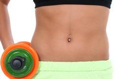 Abdômen da mulher na roupa do exercício Fotos de Stock