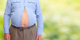 Abdômen obeso do homem fotografia de stock