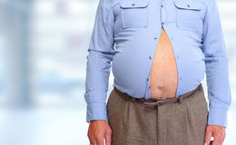Abdômen obeso do homem Imagens de Stock
