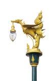 Łabędź model Uliczny oświetlenie i słup Nad Białym tłem Obrazy Royalty Free