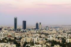 Abdali teren nowy śródmieście Amman, Amman linia horyzontu - Obraz Stock