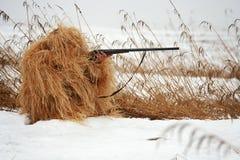 Abdeckender Jäger Stockbild
