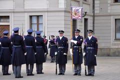 Abdeckung der Ehre des Prag-Schlosses stockfotos