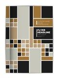 Abdeckung der Jahresberichtbroschüre, Flieger, Broschüre, Darstellung, Textschablonenplan stock abbildung