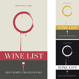 Abdeckung der Weinkarte Stockfotos