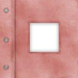 Abdeckung des rosafarbenen Albums für Fotos Stockbild