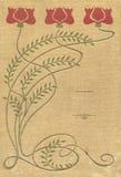 Abdeckung eines alten Buches der Gewebemuster und -farben stock abbildung