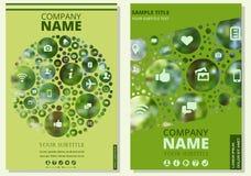Abdeckung für einen Bericht oder Bericht Name der Firma Lizenzfreie Stockfotografie