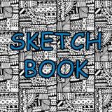 Abdeckung für einen Sketchbook stock abbildung