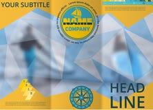 Abdeckung für Tourismus- oder Reisefirma Unscharfer Hintergrund Abstrakter Hintergrund für die Auslegung der Visitenkarte Werbung Stockbilder