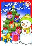 Abdeckung - frohe Weihnachten 2 stock abbildung