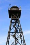 Abdeckung-Kontrollturm auf Alcatraz Stockfoto