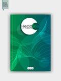 Abdeckung Schablone Design A4 Vektor Lizenzfreies Stockbild