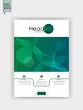 Abdeckung Schablone Design A4 Vektor Lizenzfreies Stockfoto