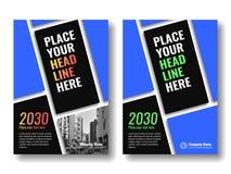 Abdeckung Schablone für Bücher, Zeitschrift, Broschüren, Unternehmensdarstellungen Stockfotografie