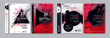 Abdeckung Schabloneen eingestellt mit grafischen geometrischen Elementen Anwendbar für Flieger, Abdeckungsjahresbericht, Plakate stock abbildung