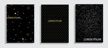 Abdeckung Schabloneen stellten mit grafischen geometrischen Elementen der Bauhaus-, Memphis- und Hippie-Art ein Anwendbar für Pla stock abbildung