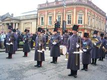Abdeckungen auf Parade, York, England. Stockbild